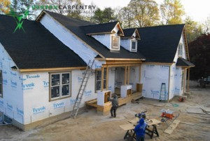 new construction  framing cottage building