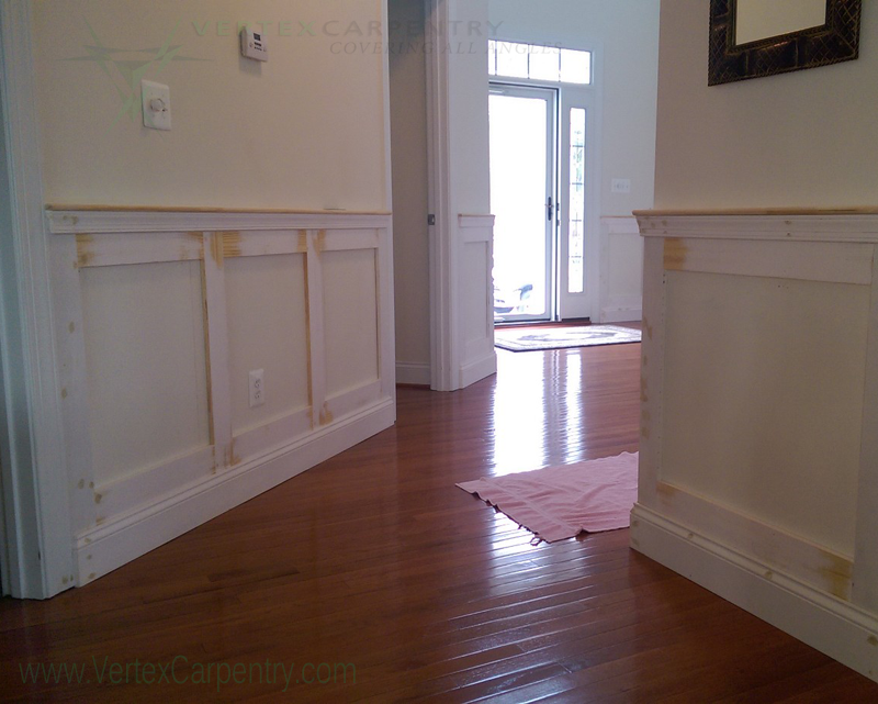 custom trim, wainscoting, expert carpentry, craftsmanship, finish carpentry